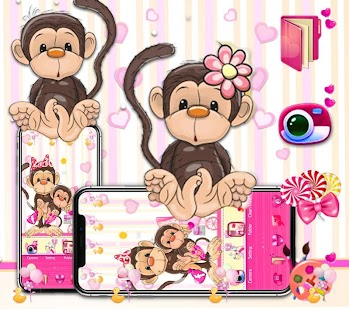 Lovely Brown Monkey Theme - náhled