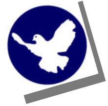Grafik: Friedenstaube-Button und Winkel.