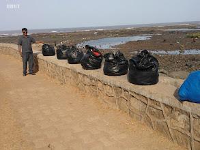 Photo: Promenade Sea Side cleaning thru Salim Khan  - Rag Pickers employed