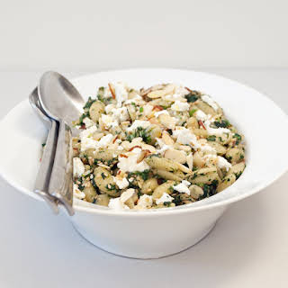 Pasta With Nettles, Almonds, and Feta.