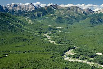 Photo: Flathead Valley, Southeastern British Columbia, Canada.   July 2009.
