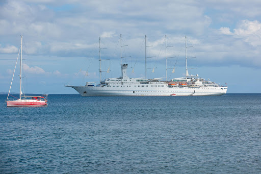 wind-surf-in-st-kitts.jpg - Windstar Cruises' 310-passenger flagship Wind Surf in St. Kitts.