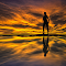 Silhouette 002 - Girl on the Lake at Sunset.jpg