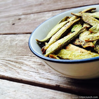 How to Make Homemade Snap Pea Chips.
