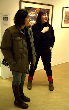 Photo: Lottie Eve and Wendy Freeman at the Stratford PV