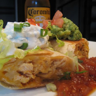 Shredded Chicken Chimichangas.