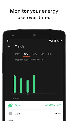 Sense Home Energy Monitor screenshot