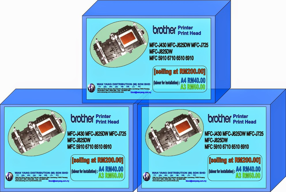 Original Brother Print Head for (MFC-J430W / MFC-J625DW / MFC-J825DW)