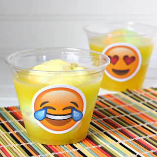Emoji Pineapple Orange Sherbet Punch Recipe & PRINTABLE