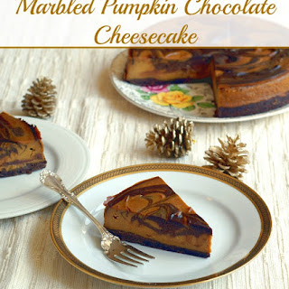 Marbled Pumpkin Chocolate Cheesecake