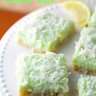 Coconut Key Lime Cookie Bars.
