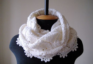Photo: женский вязаный шарф-снуд Молоко повтор