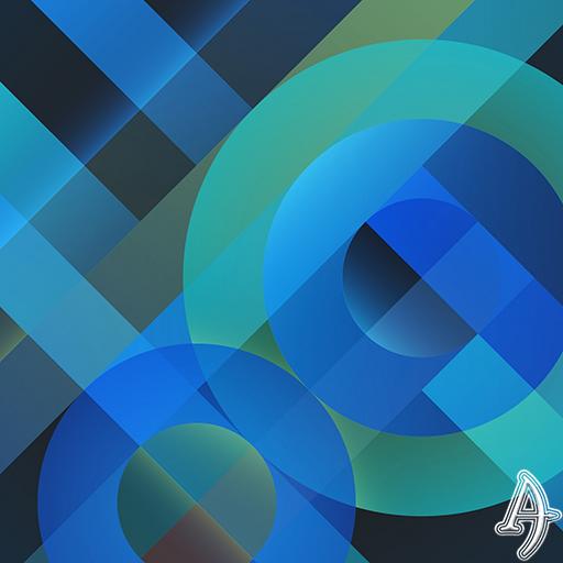 Pattern Blue Xperien Theme