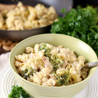 Skinny Chicken and Broccoli Alfredo.