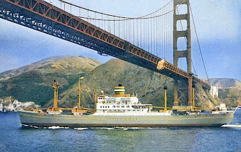 Photo: DINTELDYK  passing under the Golden Gate Bridge Holland-America Line