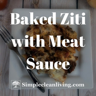 Baked Ziti with Meat Sauce