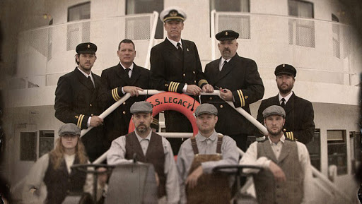 ss-legacy-officers.jpg - History comes alive aboard the SS Legacy when the ship's crew appear as living-history personalities, with talented storytellers among them, to perform vignettes throughout the voyage.