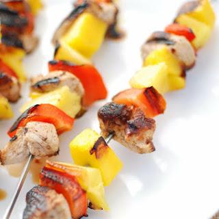 Grilled Caribbean Jerk Turkey Kabobs.