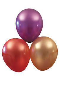 Metallic ballonger, sorterade 10 st