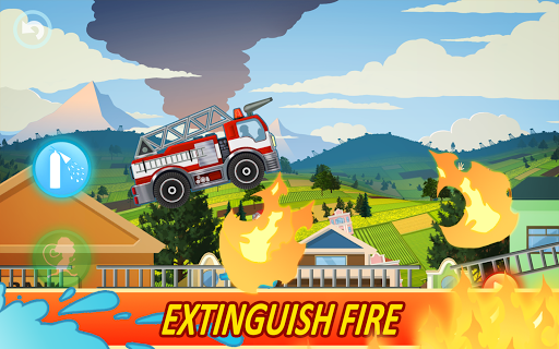Fire Fighters Racing: Fireman Drives Fire Truck  screenshots 1