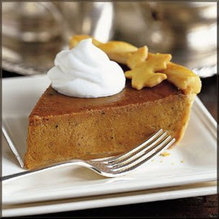 Low Calorie Pumpkin Pie.