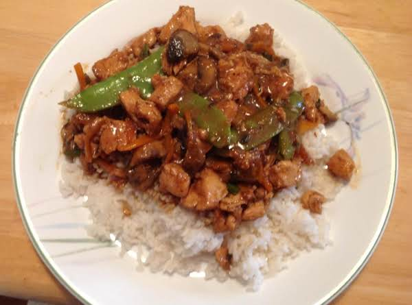 Stir Fry Princess Chicken Over Rice
