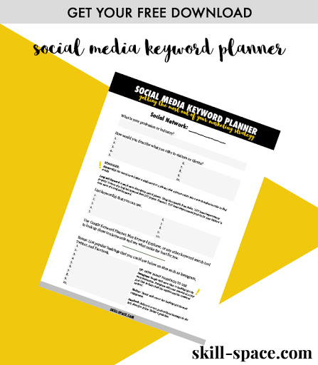 Download your social media keyword planner now!