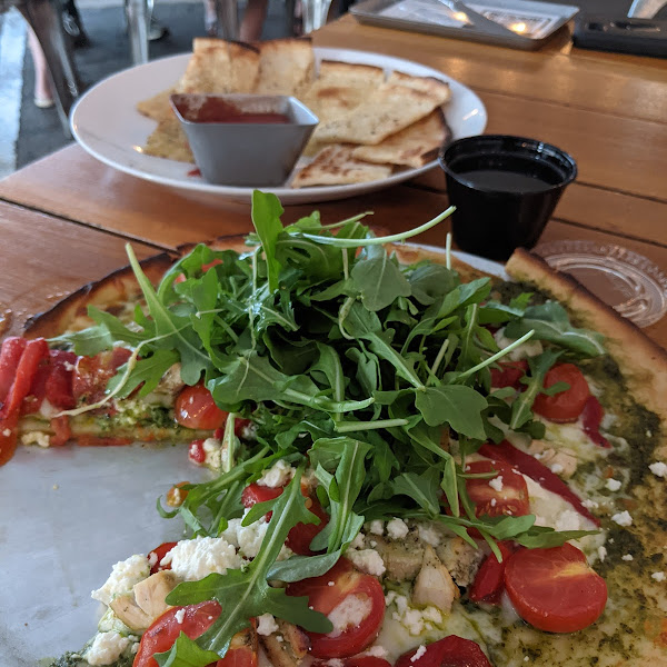 Gluten free pizza and breadsticks