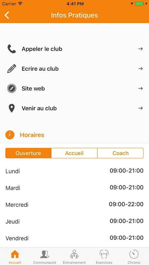 Club Connect : Fitness & Gym- screenshot