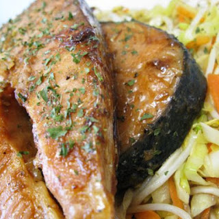 My Teriyaki Salmon Steaks with Vegetables