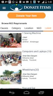 Donate Items screenshot