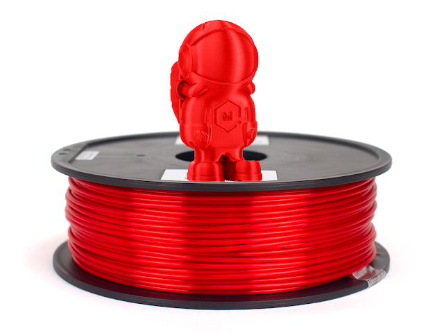 Silky Red MH Build Series PLA Filament - 2.85mm (1kg)