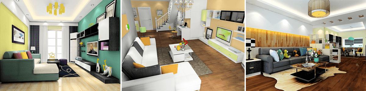 thiết kế phòng khách, phòng ngủ đẹp, thiết kế nội thất