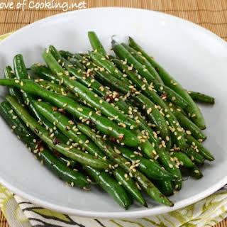 Sesame-Soy Green Bean Sauté.