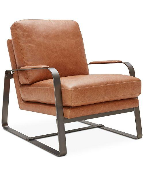 chair: Tan Leather Accent Chair