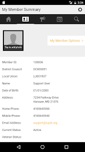 IUPAT Mobile Member Portal- screenshot thumbnail