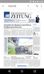 az Solothurner Zeitung E-Paper screenshot 1