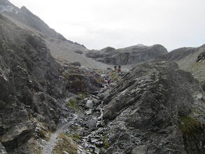 Photo: ... then we start our climb to the pass.