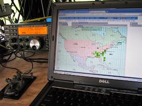 Photo: 50 MHz real-time MUF map Sun. morn. - ARRL June VHF 2014