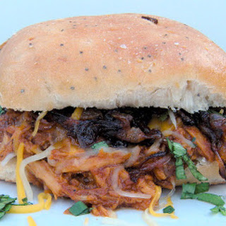 Crockpot BBQ Root Beer Shredded Chicken Sandwiches Recipe