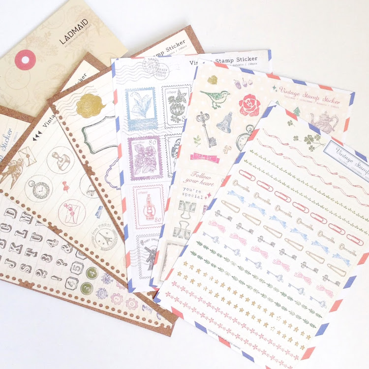 LADMAID stamp sticker by Pipit Zakka Store