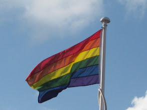 Photo: The rainbow flag flies over Nottinghamshire Healthcare Trust's HQ