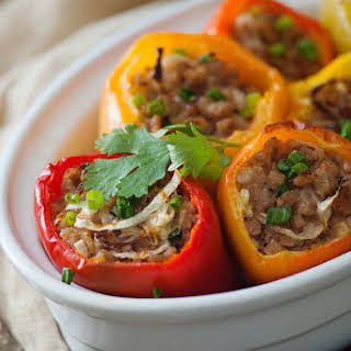 Asian Stuffed Bell Peppers.
