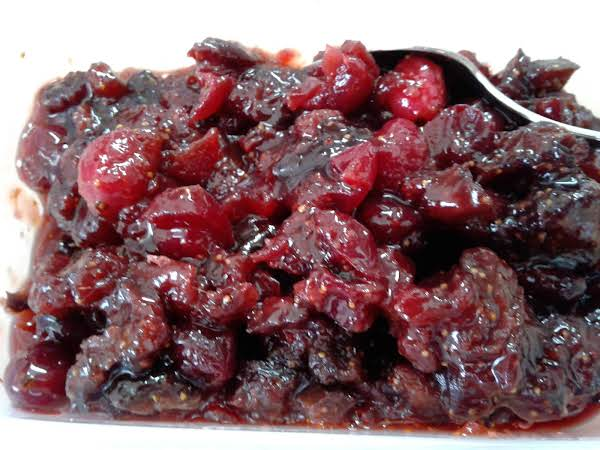 Sweet Figs, Tart Cranberries, Yummy Compote To Enhance So Many Other Foods
