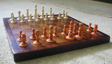 """Photo: CH105: A simple small (KIng=2.25in) bone set that really took my """"fancy"""" - and still does. Sadly, with some missing pieces - if anyone can ever oblige............"""