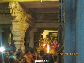 Photo: perumAL with 3 nAchiyArs inside parampadha vAsal (after opening)
