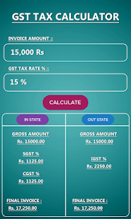 GST Calculator India 2018 - náhled