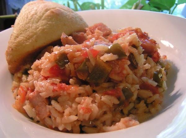 Spicy Ham And Red Rice Jambalaya Recipe