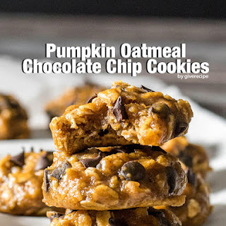 Pumpkin Oatmeal Chocolate Chip Cookies.