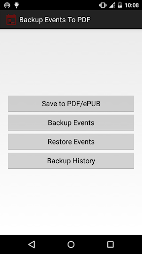 Backup Calendar Events To PDF